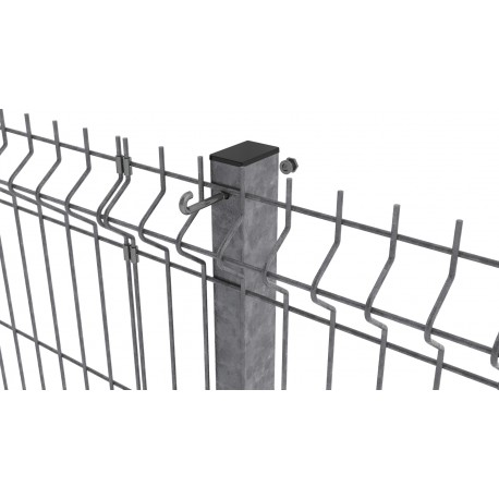 Stalp zincat pentru panouri bordurate 60x40x1.5mm 2.0m