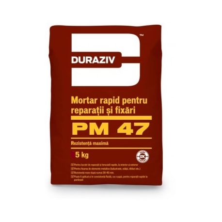 Mortar rapid pentru reparatii fixari Duraziv PM47 5Kg