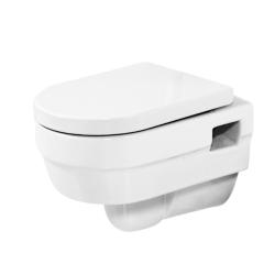 Vas WC suspendat, alb, cu Capac inchidere Soft-Close Sanotechnik SP500 (Jade)