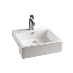 Lavoar ceramic alb pentru mobilier Sanotechnik K710