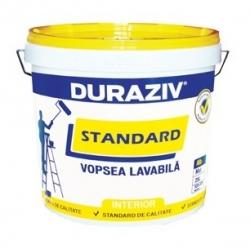 Vopsea lavabila alba pentru interior Duraziv Standard 15L