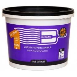 Vopsea superlavabila alba pentru interior Duraziv cu Kauciuc 15L