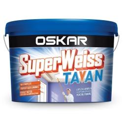 Vopsea lavabila alba pentru tavan Oskar Superweiss 2.5L