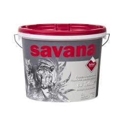 Vopsea superlavabila alba pentru interior Savana cu Teflon 18L