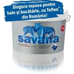 Vopsea superlavabila alba pentru baie si bucatarie Savana cu Teflon 4L