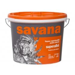 Vopsea superlavabila alba pentru interior Savana 18L