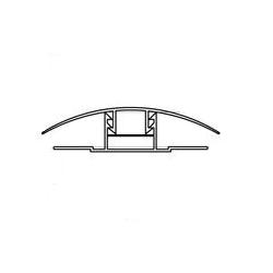 Profil policarbonat de imbinare tip harpon (baza+capac) 6mm 6m