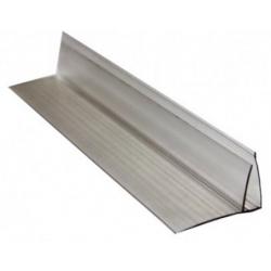 Profil policarbonat tip F 4mm TRANSPARENT 6m