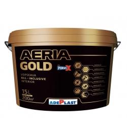Vopsea superlavabila alba pentru interior Adeplast Aeria Gold 15L + Amorsa 4L
