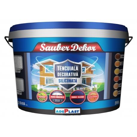 Tencuiala decorativa siliconata Adeplast Sauber Dekor (Culorile pamantului) 25Kg