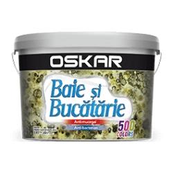 Vopsea superlavabila alba pentru baie si bucatarie Oskar Argint Activ 2.5L