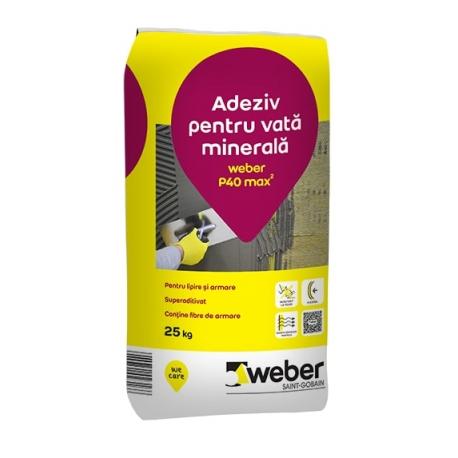 Adeziv si masa de spaclu Weber P40 25Kg