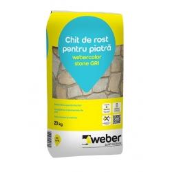 Chit de rost pentru piatra Webercolor stone 20kg alb/gri