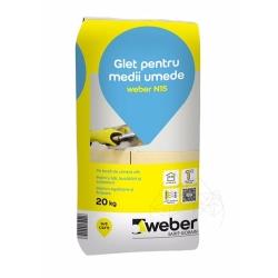 Glet alb pentru medii umede Weber N15 20Kg