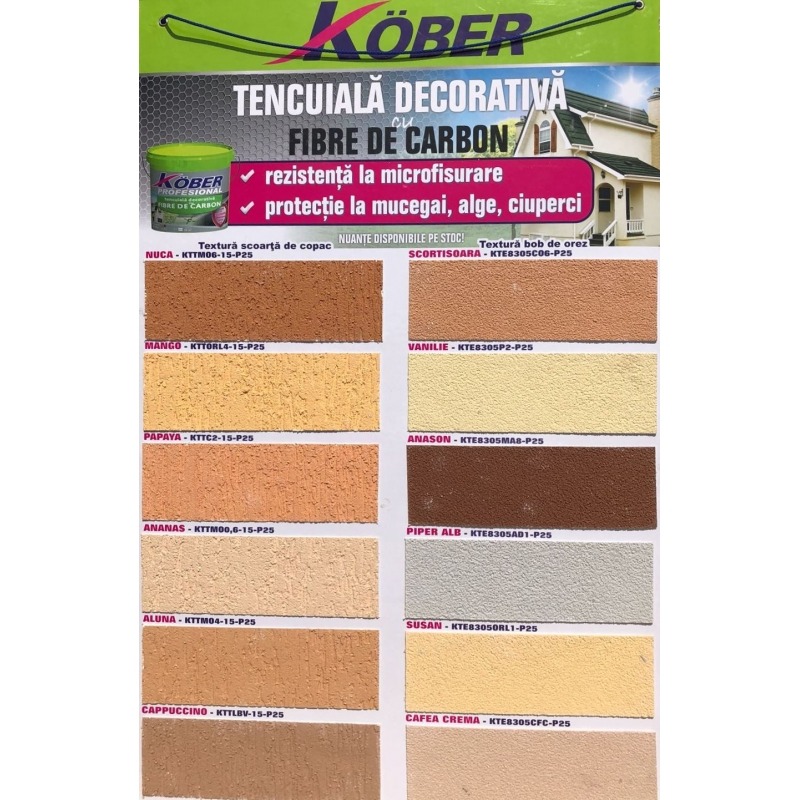Culori De Tencuiala Decorativa.Tencuiala Decorativa Cu Fibre De Carbon Kober Profesional 25kg