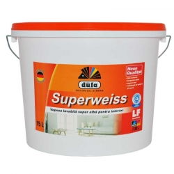 Vopsea superlavabila alba Dufa Superweiss 16.5L