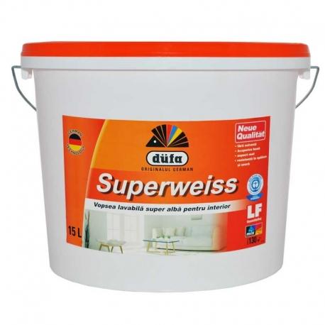 Vopsea superlavabila alba Dufa Superweiss 16.5L