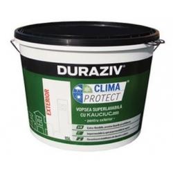 Vopsea superlavabila alba pentru exterior Duraziv Clima Protect cu Kauciuc