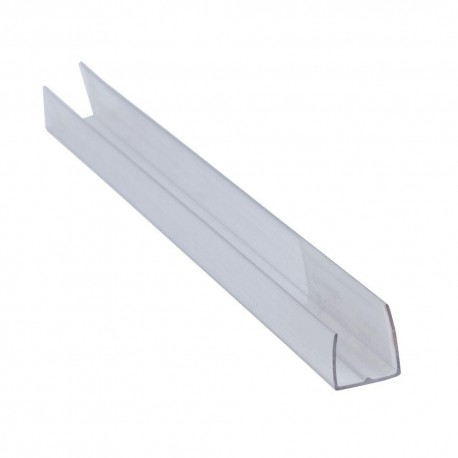 Profil de capat tip U 4mm TRANSPARENT