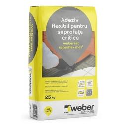 Adeziv flexibil pentru suprafete critice Weberset superflex 25Kg