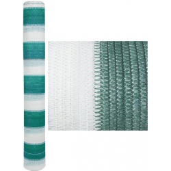 Plasa alb-verde de umbrire 95% 2x10m