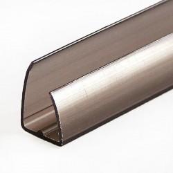 Profil policarbonat de capat tip U 8mm FUMURIU 2.1m