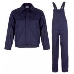 Salopeta si pantalon cu pieptar albastra