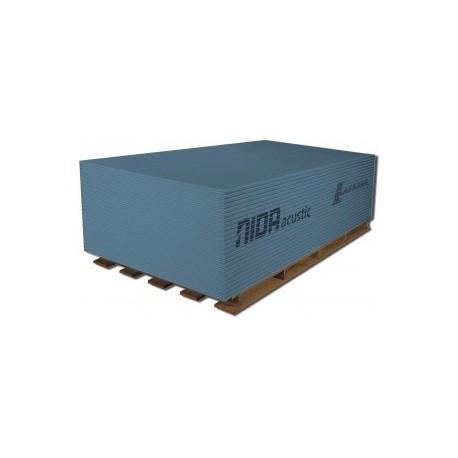 Placa gipscarton acustic 12.5x1200x2600 NIDA