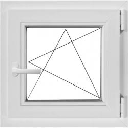 Fereastră PVC Termopan 56 x 56 cm, Oscilobatantă, Deschidere Stânga