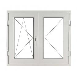 Fereastră PVC Termopan 100 x 100 cm, Deschidere Dublă Stânga + Deschidere Simplă