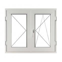 Fereastră PVC Termopan 100 x 100 cm, Deschidere Simplă + Deschidere Dublă