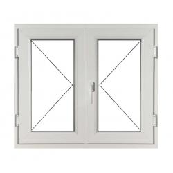 Fereastră PVC Termopan 100 x 100 cm, Deschidere Simplă + Deschidere Simplă Dreapta