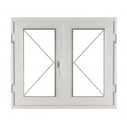 Fereastră PVC Termopan 100 x 100 cm, Deschidere Simplă + Deschidere Simplă (stânga)