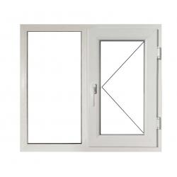 Fereastră PVC Termopan 116 x 116 cm, Fixă + Deschidere Simplă