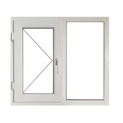Fereastră PVC Termopan 116 x 116 cm, Deschidere Simplă + Fixă