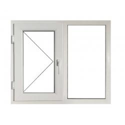 Fereastră PVC Termopan 146 x 116 cm, Deschidere Simplă + Fixă