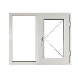 Fereastră PVC Termopan 146 x 116 cm, Deschidere Fixă + Simplă