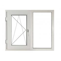 Fereastră PVC Termopan 146 x 116 cm, Deschidere Dublă + Fixă