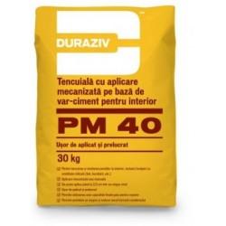 Tencuiala mecanizata Duraziv PM40 30Kg