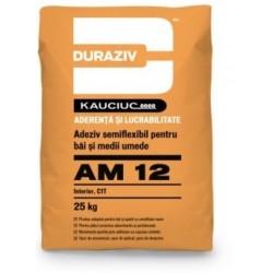 Adeziv semiflexibil pentru placi ceramice Duraziv AM12 25Kg