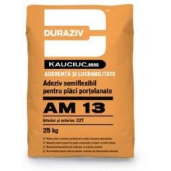 Adeziv semiflexibil pentru placi ceramice Duraziv AM13 25Kg