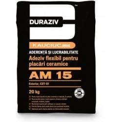 Adeziv flexibil pentru placi ceramice Duraziv AM15 20Kg